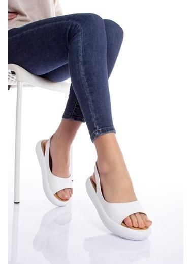 MODAGON Sandalet Beyaz